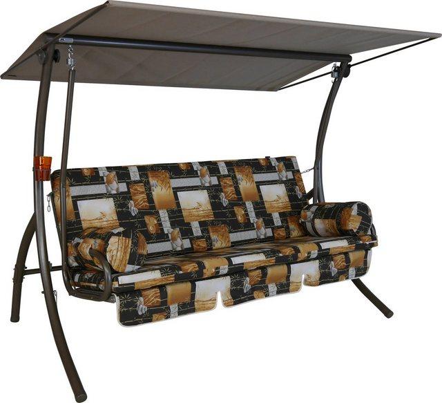 Empfehlung: Hollywoodschaukel 3-Sitzer aus Stahl mit Sonnendach  von Angerer Freizeitmöbel*