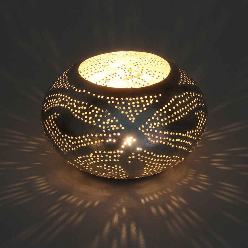 Casa Moro Windlicht »Orientalisches Windlicht Nureddin aus echt versilberten Messing, Kunsthandwerk aus Marokko, Marokkanische Laterne Handmade Teelichthalter, Originelle Geschenk-Idee Dekoration« (1 Stück), L8014