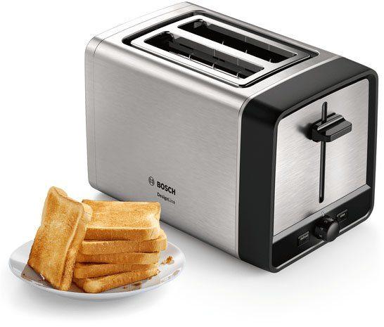 BOSCH Toaster TAT5P420DE DesignLine, 2 kurze Schlitze, 970 W