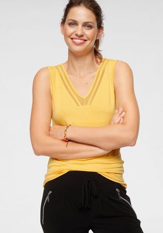 Laura Scott Marškinėliai be rankovių su permatomas...