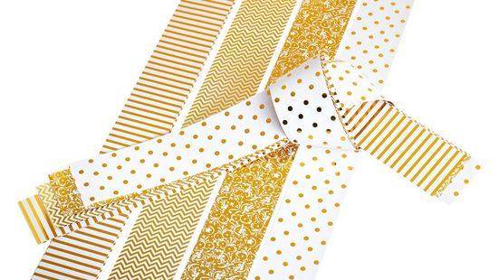 VBS Papiersterne »Papierstreifen glänzend Golden Glamour«, 25 mm 20 Streifen