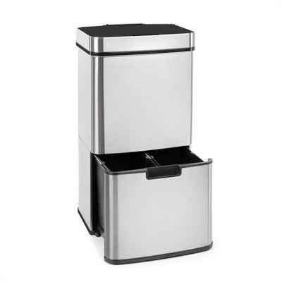 Klarstein Mülleimer »Touchless Müllsammler Sensor 72L 4 Behälter ABS / PP / Edelstahl gebürstet«