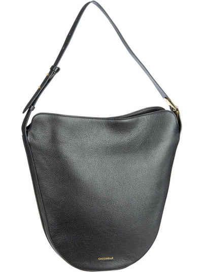 COCCINELLE Keyla Hobo Bag Medium Schultertasche Umhängetasche Noir Schwarz Neu