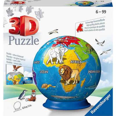 Ravensburger 3D-Puzzle »puzzleball® Ø13 cm, 72 Teile, Kindererde«, Puzzleteile