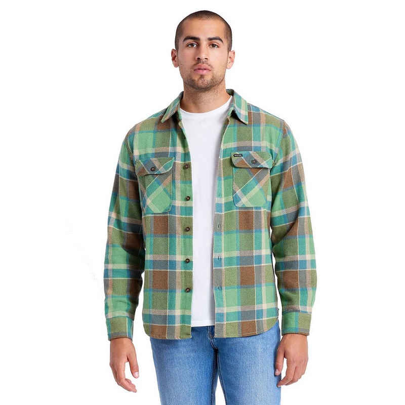 Brixton Langarmhemd »Bowery Flannel L/S - toffee«