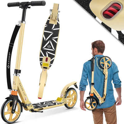 KESSER Cityrad, Kickscooter optimale Lenkung mit 210 mm PU Räder Robuster Stuntscooter Tretroller Cityroller Trick Roller für Erwachsene klappbar
