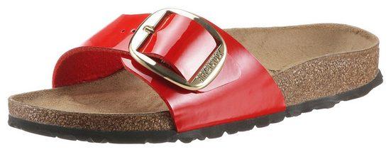 Birkenstock »Madrid Big Buckle« Pantolette mit ergonomisch geformtem Fußbett, Schuhweite: schmal