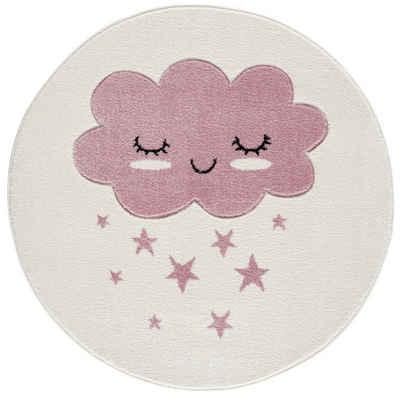 Kinderteppich »Wolke rund«, Kids Love Rugs, rund, Höhe 16 mm, weicher Flor