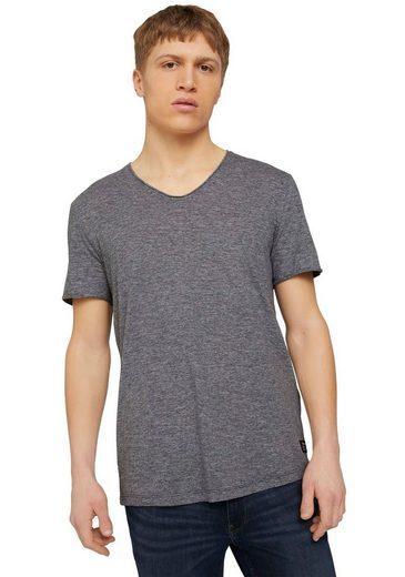 TOM TAILOR Denim T-Shirt mit V-Ausschnitt