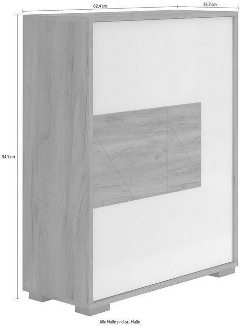 Schuhschränke und Kommoden - Places of Style Schuhschrank »Stela« mit Push to open Funktion und weiss UV lackierte Front  - Onlineshop OTTO