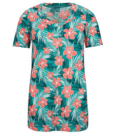 SUPER.NATURAL Kurzarmshirt »super.natural Digital Printed T-Shirt stylisches Damen Sommer-Shirt mit Allover-Print Kurzarm-Shirt Bunt«