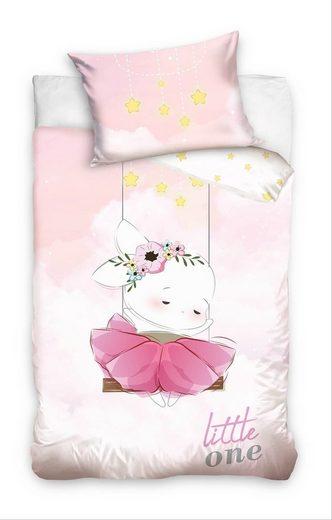 Babybettwäsche »Kleines Häschen - Baby-Bettwäsche-Set für Mädchen, 100x135 & 40x60 cm«, Baby Best, 100% Baumwolle