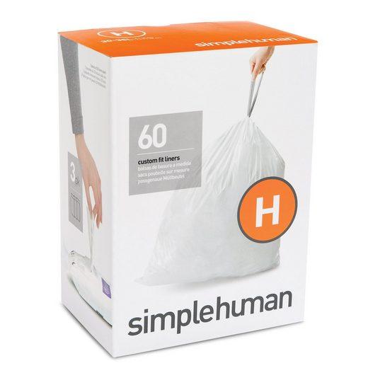 simplehuman Müllbeutel passgenaue Müllbeutel Nachfüllpack code H