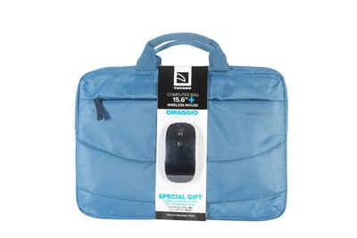 Tucano Tablet-Hülle »Tucano Bundle aus Idea Slim Notebook- u. Tablettasche 15 Zoll und kabelloser Maus, blau«