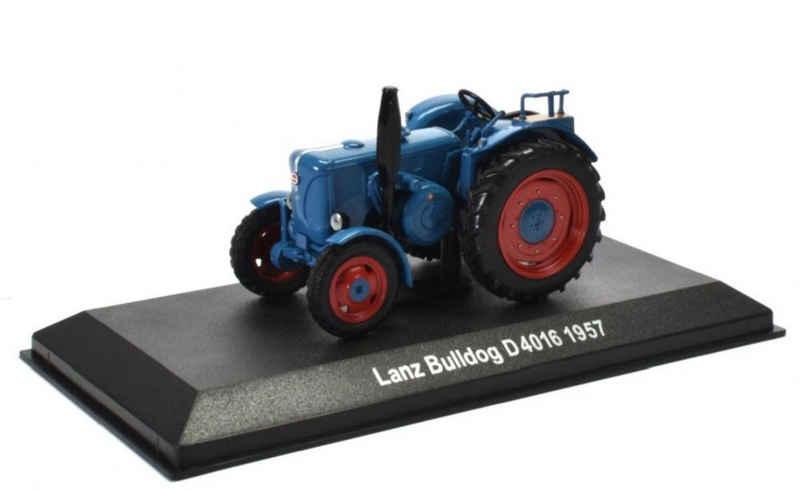 Editions Atlas Modelltraktor »Historischer Traktor 1957 Lanz Bulldog D 4016 blau 1:43 by IXO for Hachette Metall Kunststoff«, Maßstab 1:43