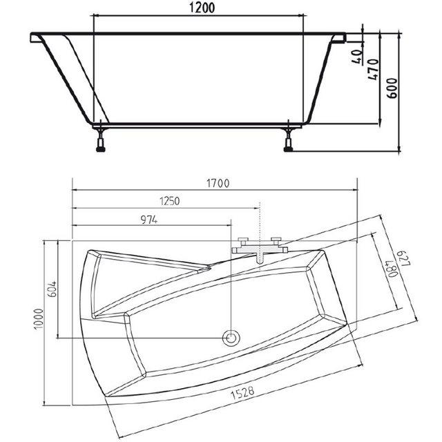 Badewannen und Whirlpools - HAK Badewanne »EVIA«, 170x100x47 cm  - Onlineshop OTTO
