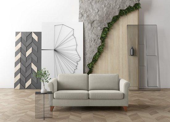 machalke® 2,5-Sitzer »amadeo«, mit geschwungenen Armlehnen, Breite 198 cm