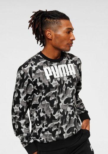 PUMA Sweatshirt »Rebel CAMO Crew TR«