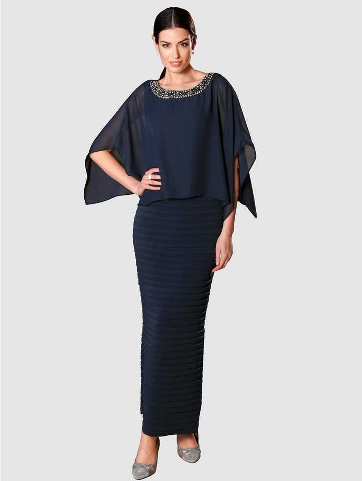 Festtagsmode - Paola Abendkleid in 2 in 1 Optik › blau  - Onlineshop OTTO