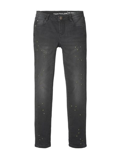TOM TAILOR Straight-Jeans »Jeans mit Nieten«