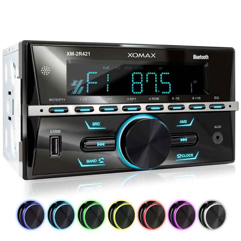XOMAX Autoradio (XOMAX XM-2R421 Autoradio mit Bluetooth, USB und AUX-IN)