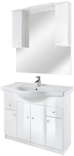 Badezimmer Sets - Badmöbel Set »San Diego«, (4 tlg), inklusive Schalter und Steckdose  - Onlineshop OTTO