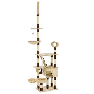 tilumi Kratzbaum »Katzen-Kratzbaum mit Sisal-Kratzsäulen 230 - 250 cm«