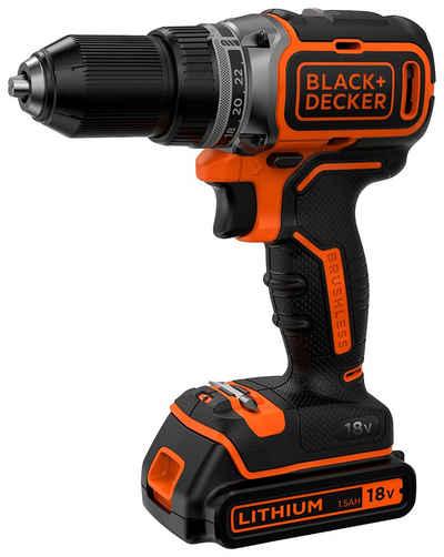 Black + Decker Akku-Bohrschrauber »BL186K / BL186KB«, max. 1650 U/min, LED-Arbeitslicht, inkl. Akku