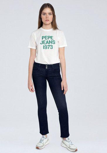 Pepe Jeans Straight-Jeans »GEN« mit 2-Knopf Bund im Komfort-Stretch-Denim