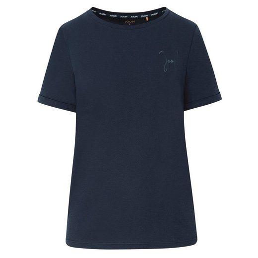 JOOP! Bodywear Pyjamaoberteil »Easy Leisure Kurzarm-Shirt« Kurzarm-Shirt mit minimalistisches JOOP! Logo auf der Brust, Klassischer Rundhalsausschnitt, Leicht angeschnittenen Ärmel