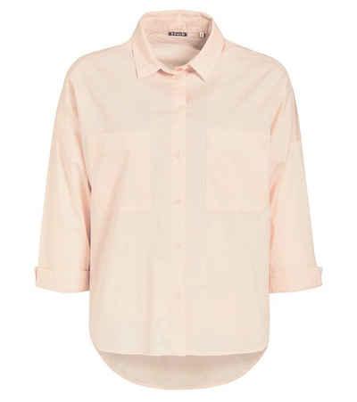 khujo Hemdbluse »khujo Nizka Hemd-Bluse coole Damen Sommer-Bluse mit zwei Brusttaschen Freizeit-Bluse Rosa«