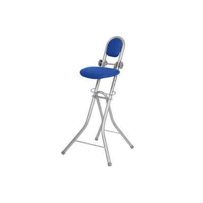 Ribelli Stehhilfe, Bügelstehhilfe Stehhilfe Stehstuhl Stehsitz Bügelstuhl höhenverstellbar blau