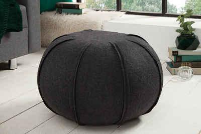 riess-ambiente Sitzhocker »FILZ 50cm anthrazit«, mit Filz-Bezug