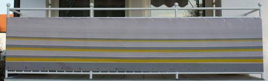 Angerer Freizeitmöbel Balkonsichtschutz »Nr. 600« Meterware, gelb/grau, H: 90 cm