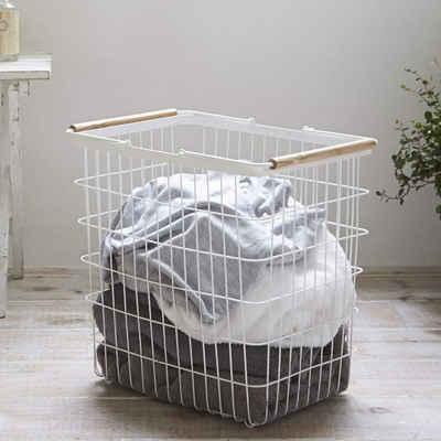 Yamazaki Wäschekorb »Tosca«, Metall, mit Griff, Größe L