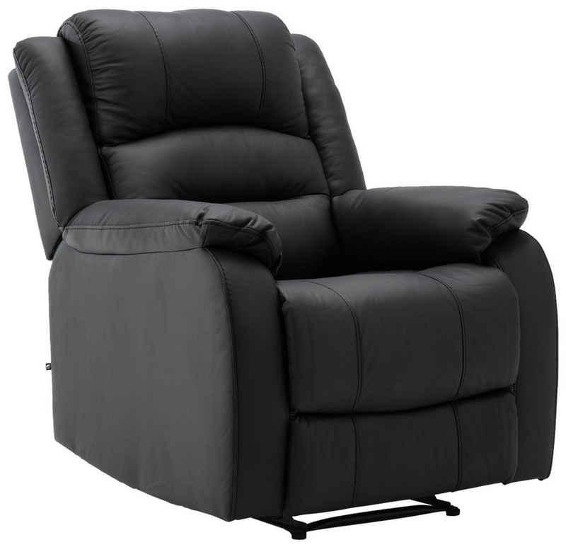 CLP Multimediasessel »Kerpen«, Ruhesessel mit Liegefunktion mit Armlehnen ergonomische Sitzposition