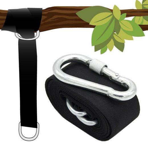 AMANKA Deckenhalter »Hängesessel Befestigung Bucky 1 Gurt mit Karabiner«, 300x5 cm Schwarz bis 150 kg