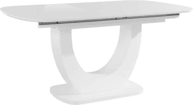 INOSIGN Esstisch »Nia«, inklusive einer Einlegeplatte, mit einer Hochglanz-Optik, Breite 160-200 cm