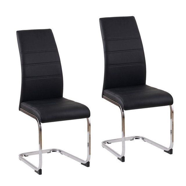 Stühle und Bänke - HTI Line Freischwinger »Schwingstuhl SallyC PU 2er« Schwingstuhl  - Onlineshop OTTO