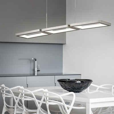 WOFI LED-Hängeleuchte, Zugpendelleuchte LED Pendelleuchte Höhenverstellbar Hängeleuchte schwenkbar, ALU, 1x LED 25 Watt 21 Lumen warmweiß, L 81,5 cm