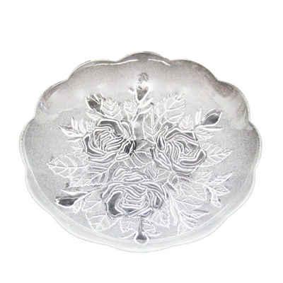 Neuetischkultur Dekoteller »Teller aus Glas Rosen-Ornamente«