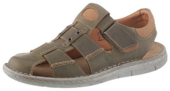 PETROLIO Sandale mit Ziernähten