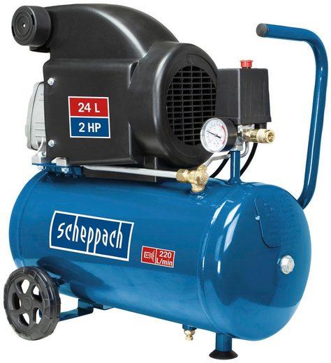 Scheppach Kompressor »HC26«, 1500 W, max. 8 bar, Inklusive 280 ml Kompressorenöl Ultra Performance Longlife SAE 5W-40