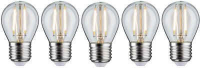Paulmann »Tropfen« LED-Filament, E27, 5 Stück, Warmweiß, 5er Pack2,6W, E27 klar 2700K