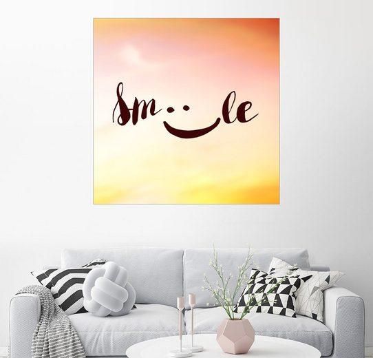 Posterlounge Wandbild, Premium-Poster Smile