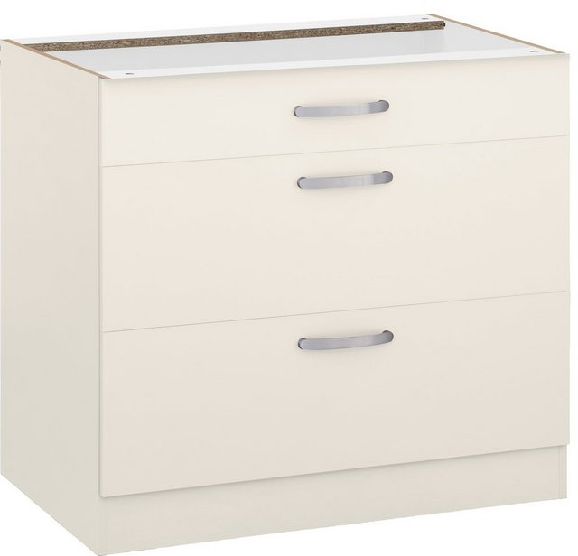 Küchenschränke - wiho Küchen Unterschrank »Kansas« 90 cm breit, mit 2 großen Auszügen ohne Arbeitsplatte  - Onlineshop OTTO