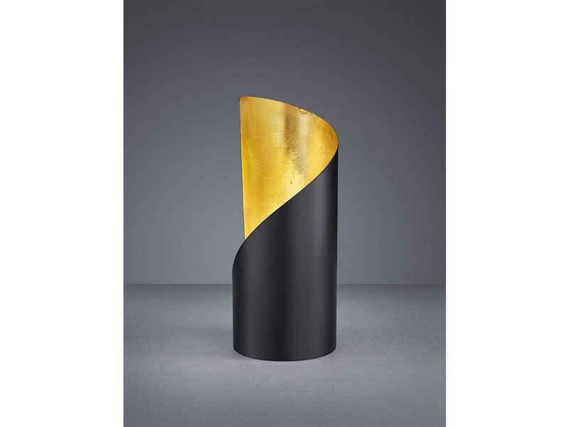 TRIO LED Tischleuchte, kleine Metall Tisch-Lampe rund Industrial für Wohnzimmer, Fensterbank, Schlafzimmer, Schreibtisch