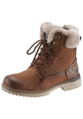 Mustang Shoes Winterstiefel su Fellimitat ant Schaft...
