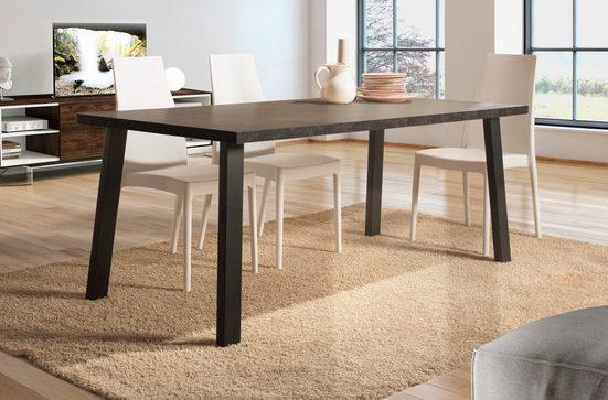 Home affaire Esstisch »Pisa«, mit einer 4 cm starken Tischplatte, im hochwertigen italienischen Design, mit einem Metallgestell