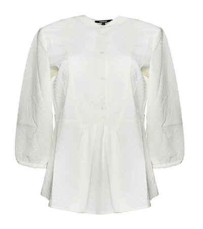 Mexx Shirtbluse »MEXX Bluse schickes Damen Blusen-Shirt Freizeit-Shirt mit verkürzter Knopfleiste Creme«